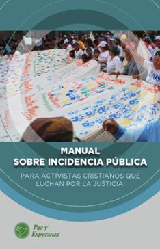 Portada Manual sobre Incidencia Pública